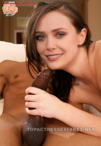 elizabeth olsen nude blowjob exposing boobs & pussy fake 001