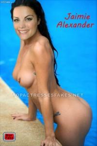 jamie alexander naked exposing sexy ass and boobs fake 001