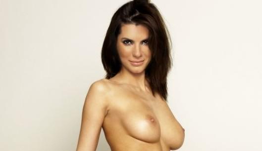 sandra bullock sexy nude showing beautiful boobs & tits fake 002