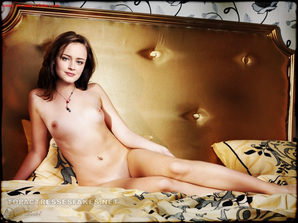 alexis bledel nude photos sexy boobs and pussy show fake 002