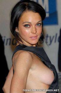 lindsay lohan boobs visible