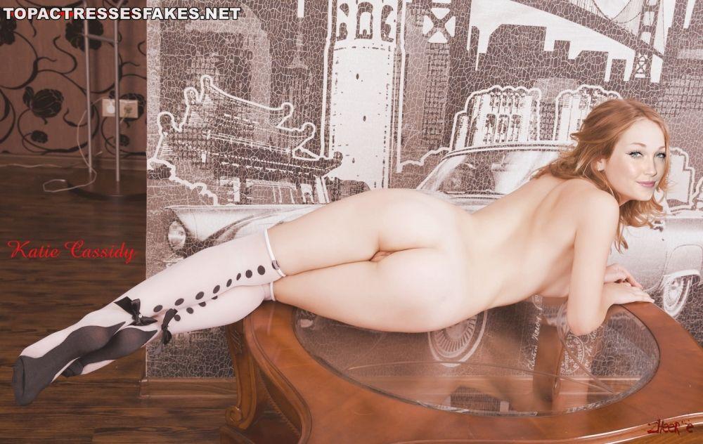 katie cassidy nude ass show