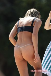 ashley hart topless and g string thong candids 001