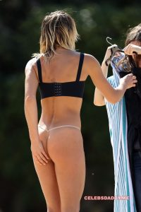 ashley hart topless and g string thong candids 002