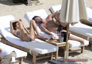 nabilla benattia boobs flashing on vacation 002
