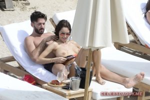 nabilla benattia boobs flashing on vacation 004