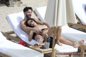 nabilla benattia boobs flashing on vacation 006