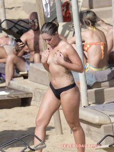 olympia valence topless beach candids 001