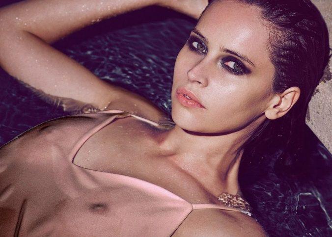felicity jones see thru + topless selfies (covered)