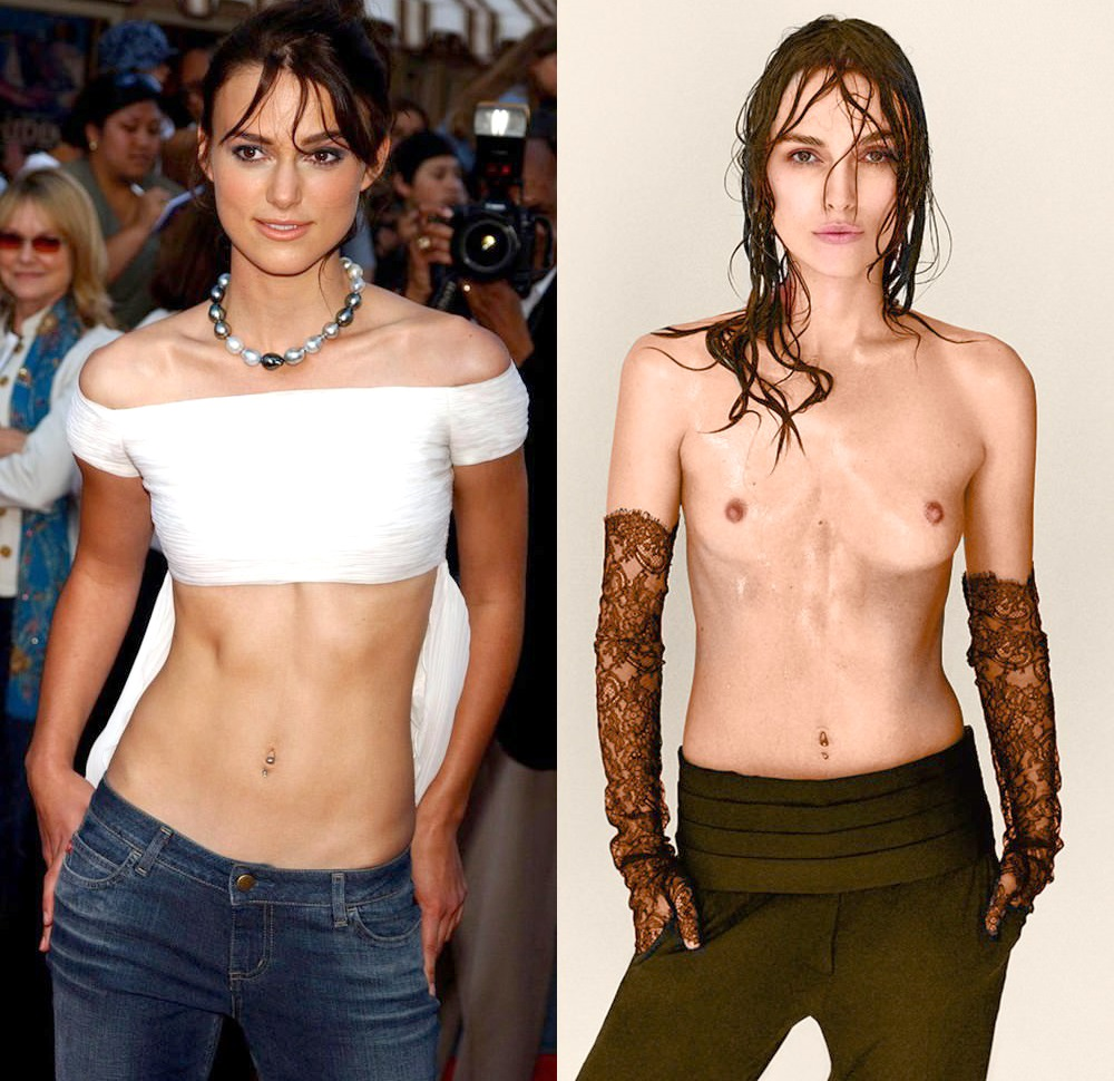 keira knightley topless on off