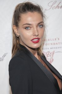 alina baikova has a wardrobe malfuction at gabrielle's angel ball in new york city