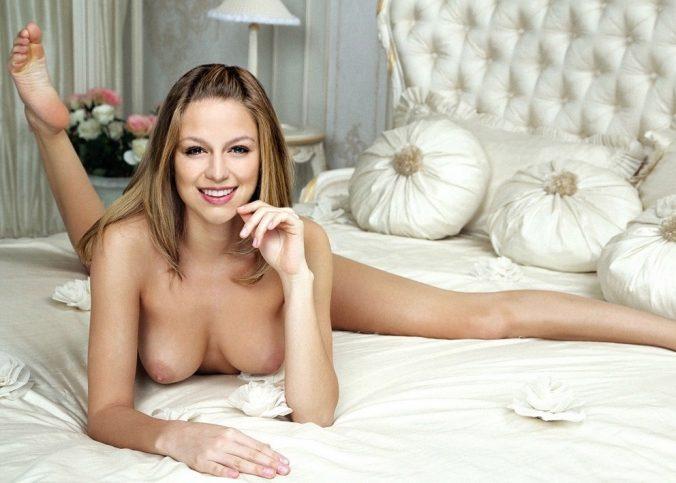 melissa benoist nude bed