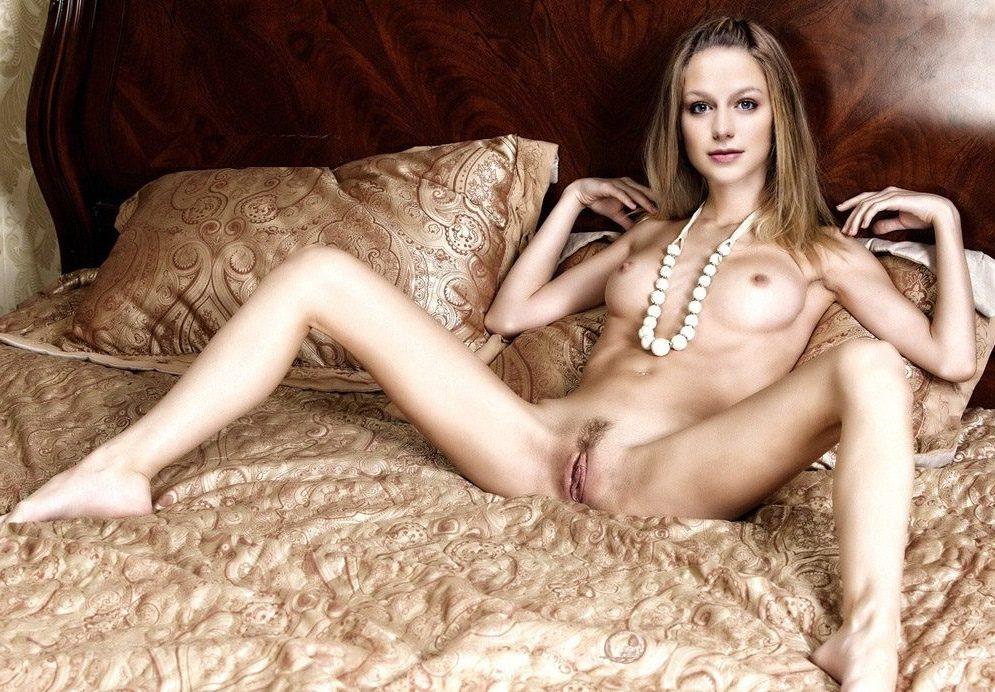 melissa benoist nude bed2