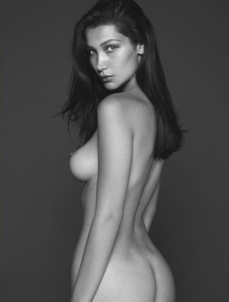 bella hadid topless nude
