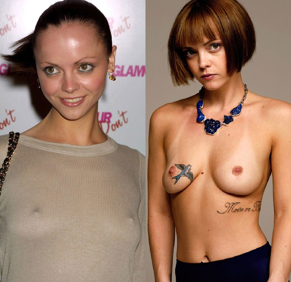 christina ricci topless nude